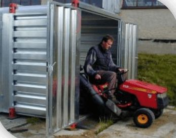 Garden shed made of galvanized steel