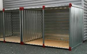 Storage container open on one side