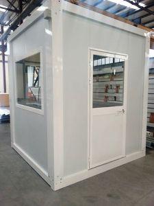 Glazed modular sentry box made of sandwich panels